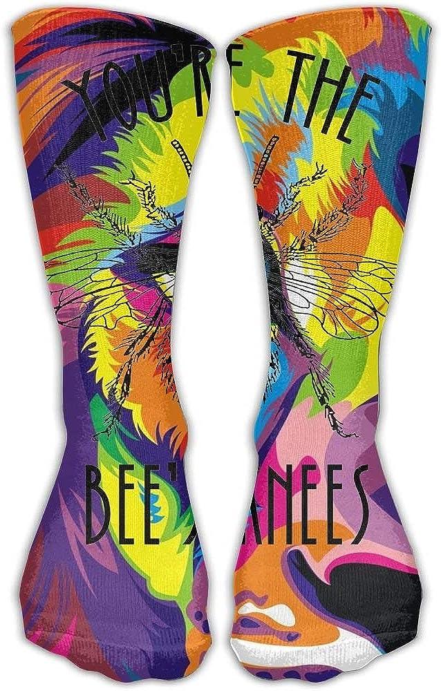Nifdhkw Youre The Bees Knees 3D Printing Long Socks