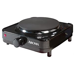 Aroma AHP-303/CHP-303 Single Hot Plate, Black