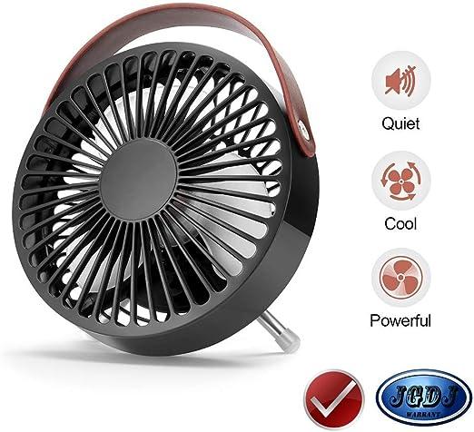 AISJG Mini Ventilador para Mesa de Escritorio,Trabaja Mini Fan ...