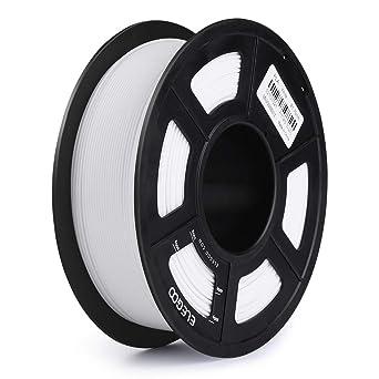 ELEGOO PLA Filamento de Impresora 3D, Precisión Dimensional +/- 0.03 mm, 1kg Carrete, 1.75mm-Blanco