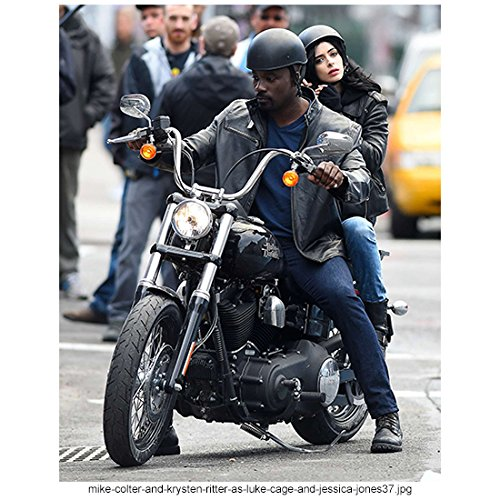 - Jessica Jones Mike Colter as Luke Cage and Krysten Ritter as Jessica Jones Riding Looking Sexy 8 x 10 Inch Photo