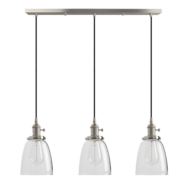 Pathson industrial modern vintage loft bar kitchen ceiling pendant lights fittings cluster chandelier glass lampshade hanging 3 lights fixture for island