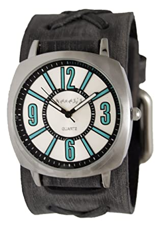 f1e33849e9b Amazon.com  Nemesis Blue Comely Watch with Faded X Black Leather ...