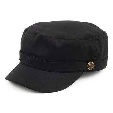 9fbef4f62f9 Jaxon   James Herringbone Army Cap - Black  Amazon.co.uk  Clothing
