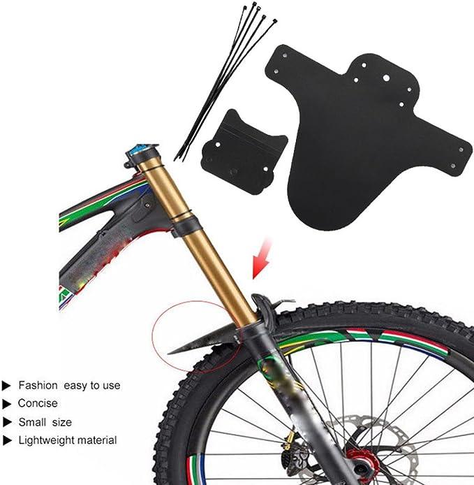 Libertroy Guardabarros de Bicicleta Ultraligero F/ácil de Instalar MTB Guardabarros Guardabarros Alas para Guardabarros Traseros Delanteros de Bicicleta Piezas de Bicicleta-Negro