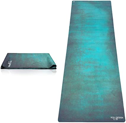 Amazon Com Yoga Design Lab The Travel Yoga Mat 2 In 1 Mat Towel Lightweight Foldable Eco Luxury Ideal For Hot Yoga Bikram Pilates Barre Sweat 1mm Thick Includes