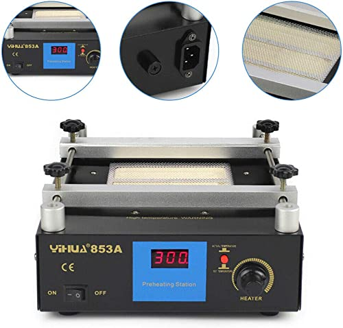 110V 600W SMD PCB Infrared Preheater Preheating Oven Infrared Preheating Station Anti-static Material With Digital Thermostat