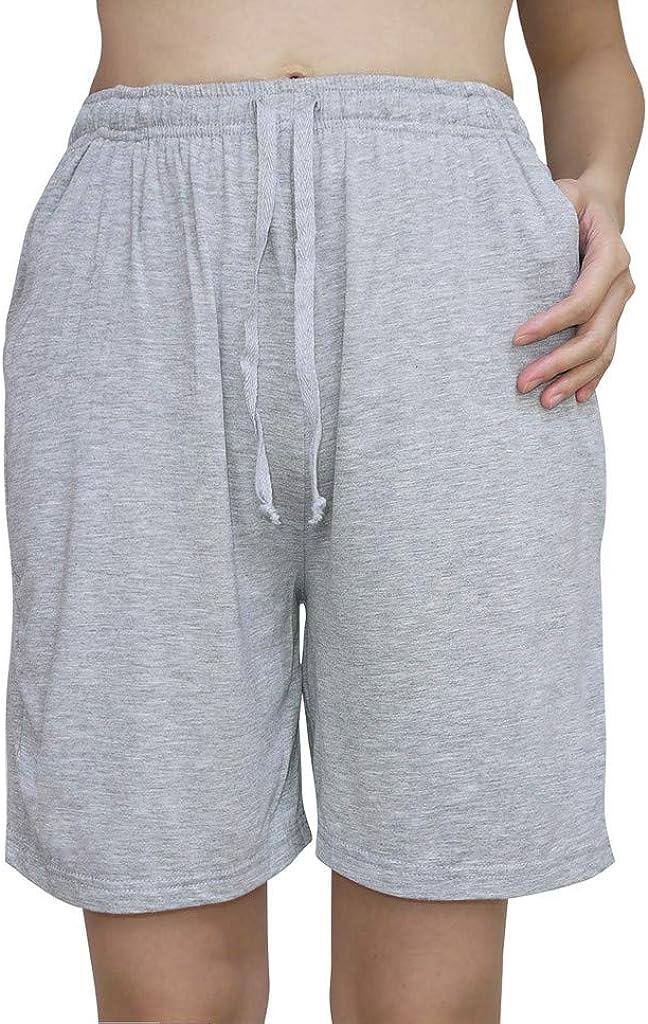 Wantschun Womens Modal Pajama Shorts Bamboo Sleep Shorts Pajama Pants with Drawstring /& Pockets