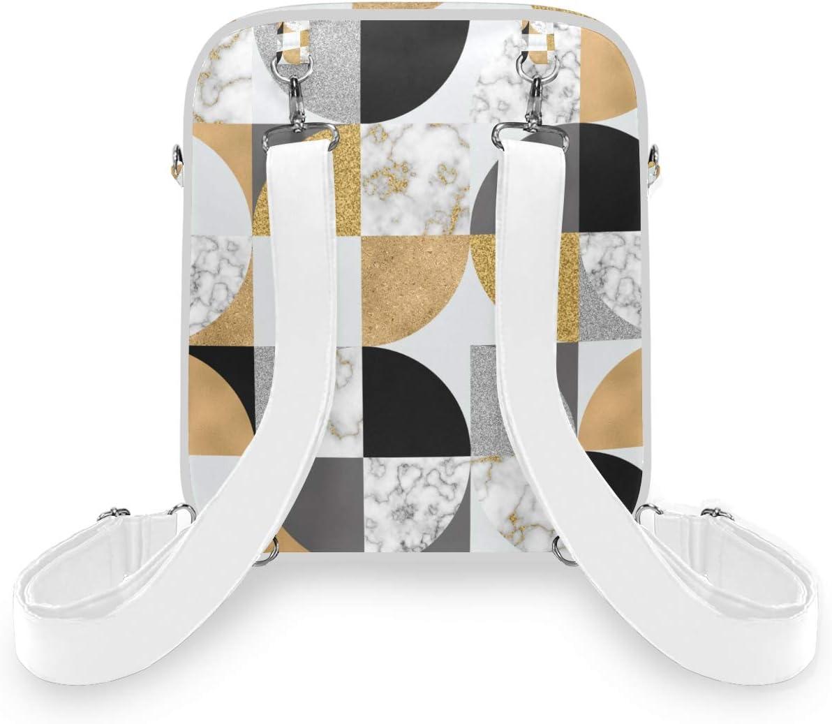 NIKIVIVI Modern Seamless Pattern Watercolor Textured TrianglesCrossbody Shoulder BagConvertible Rucksack