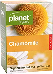 Planet Organic Chamomile Herbal 50 Tea Bags, 48 g