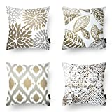 PHANTOSCOPE New Living Series Coffee Color Decorative Throw Pillow Case Cushion Cover 18'' x 18'' 45cm x 45cm Set of 4