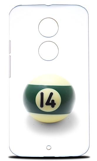 Foxercases Design Snooker Pool Tisch Bälle 16 Hartschale Schutzhülle Für  Motorola Moto X (2.