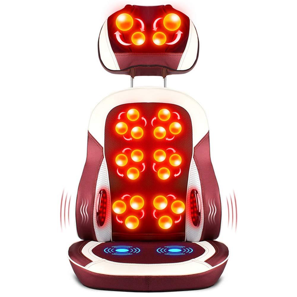 電動マッサージチェアシートクッションパッド、フルボディバックウエスト、首多機能マッサージクッションチェアホームオフィス用カー B07SL8X31G