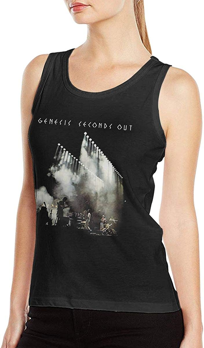 BobbyElliott Genesis Men's Seconds Out Women's Sleeveless T Shirt Casual Muscle Tank Tops Shirts Personality Blouse Black
