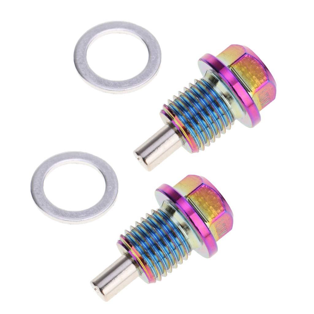 Shiwaki 2er Pack Motor/ölwanne Stecker /Ölablassschraube Magnet/ölablassschraube f/ür die meisten Auto Modelle