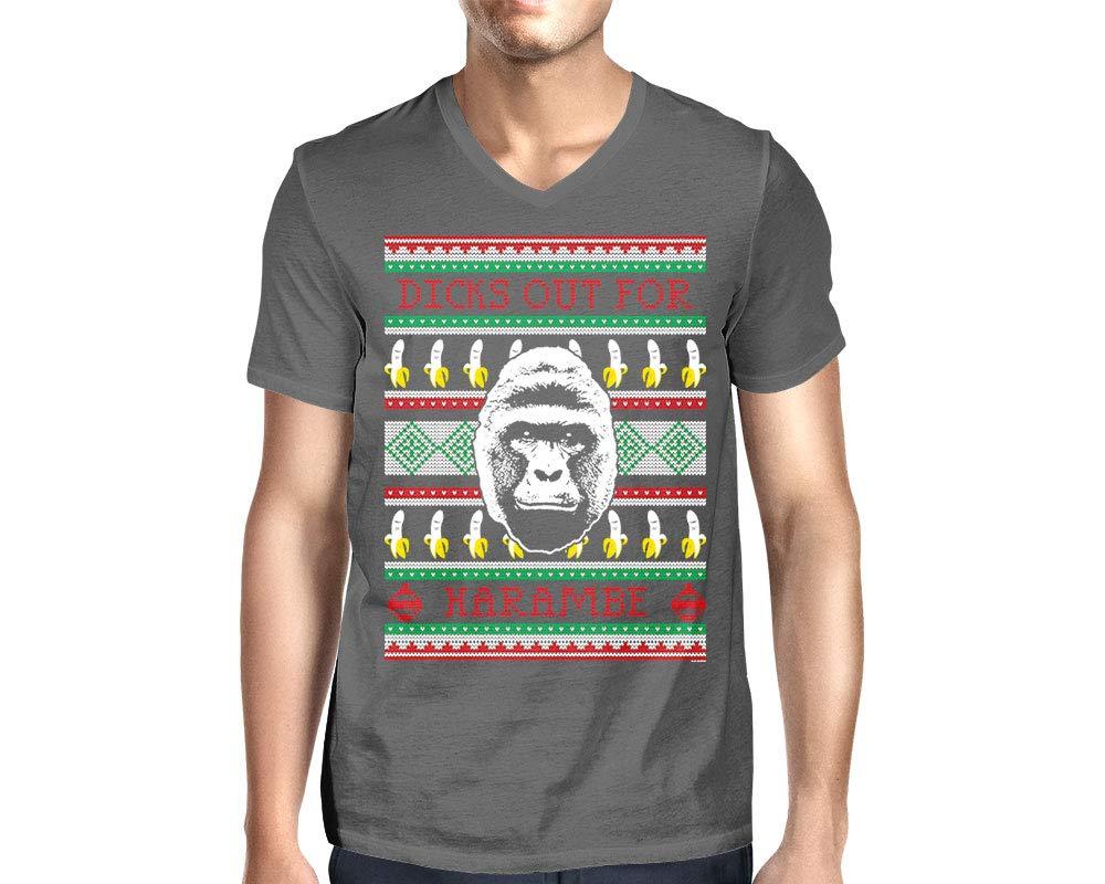 Dicks Out Harambe Ugly Christmas T Shirt 4840