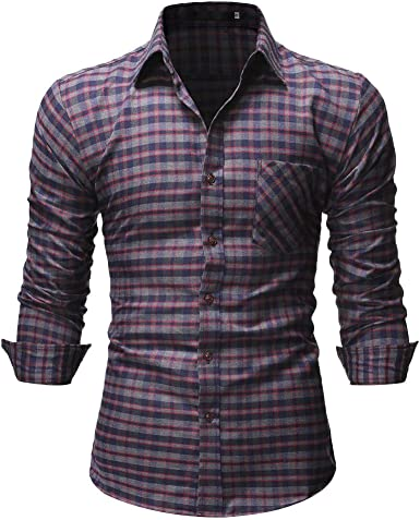 SoonerQuicker Camisa de Hombre Tops Shirt 2019 New Casual Hombre Plaid Normal Floral Negocio Manga Larga Botón Camiseta Top Blusa, Gris, XL: Amazon.es: Ropa y accesorios
