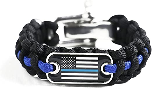 Thin Blue Line Houston Police Department Houston Texas HPD Patch Paracord Survival Keychain
