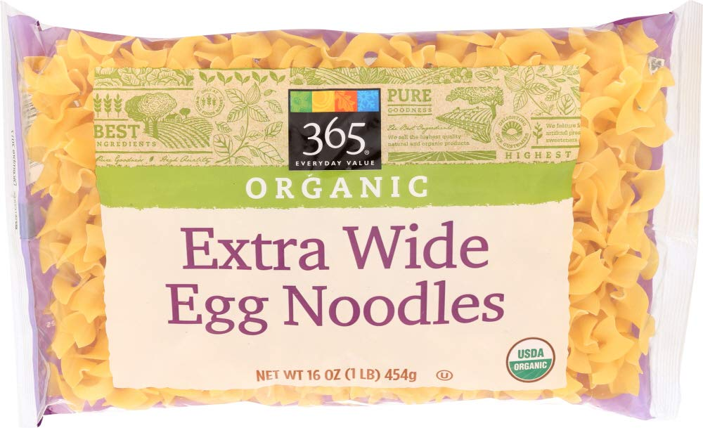 365 Everyday Value, Organic Extra Wide Egg Noodles, 16 oz by 365 Everyday Value (Image #1)
