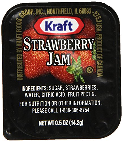 Kraft Strawberry Jam, 0.5 oz. pack, Pack of 200 by Kraft