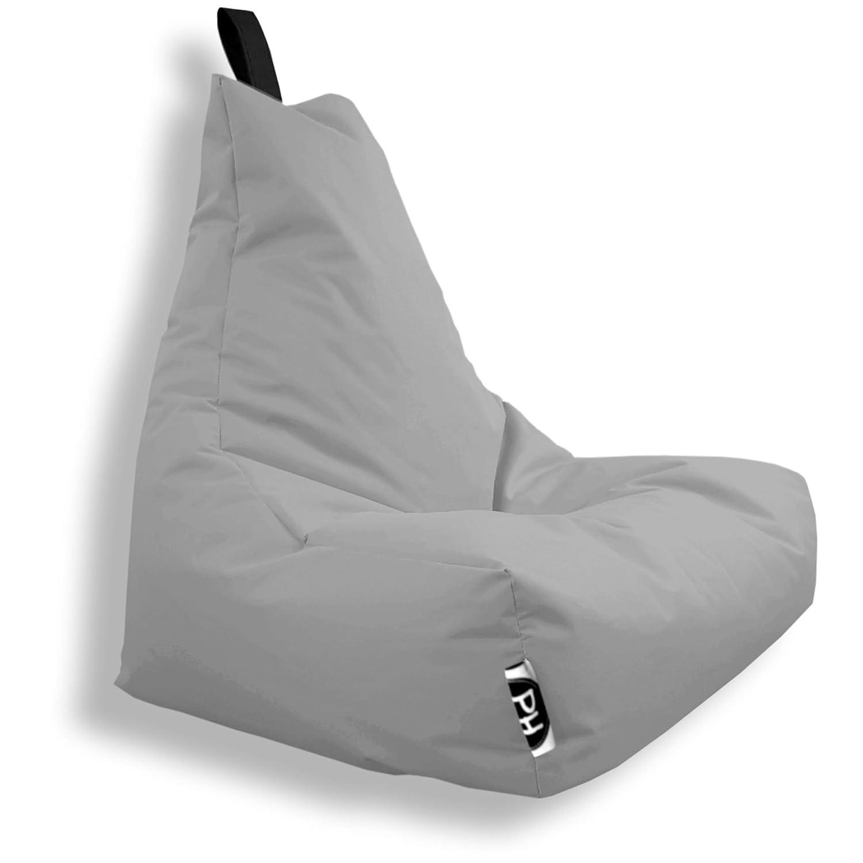 Patchhome Gamer Kissen Lounge Kissen Sitzsack Sessel Sitzkissen In & Outdoor geeignet fertig befüllt   Grau - XXL - in 2 Größen und 25 Farben