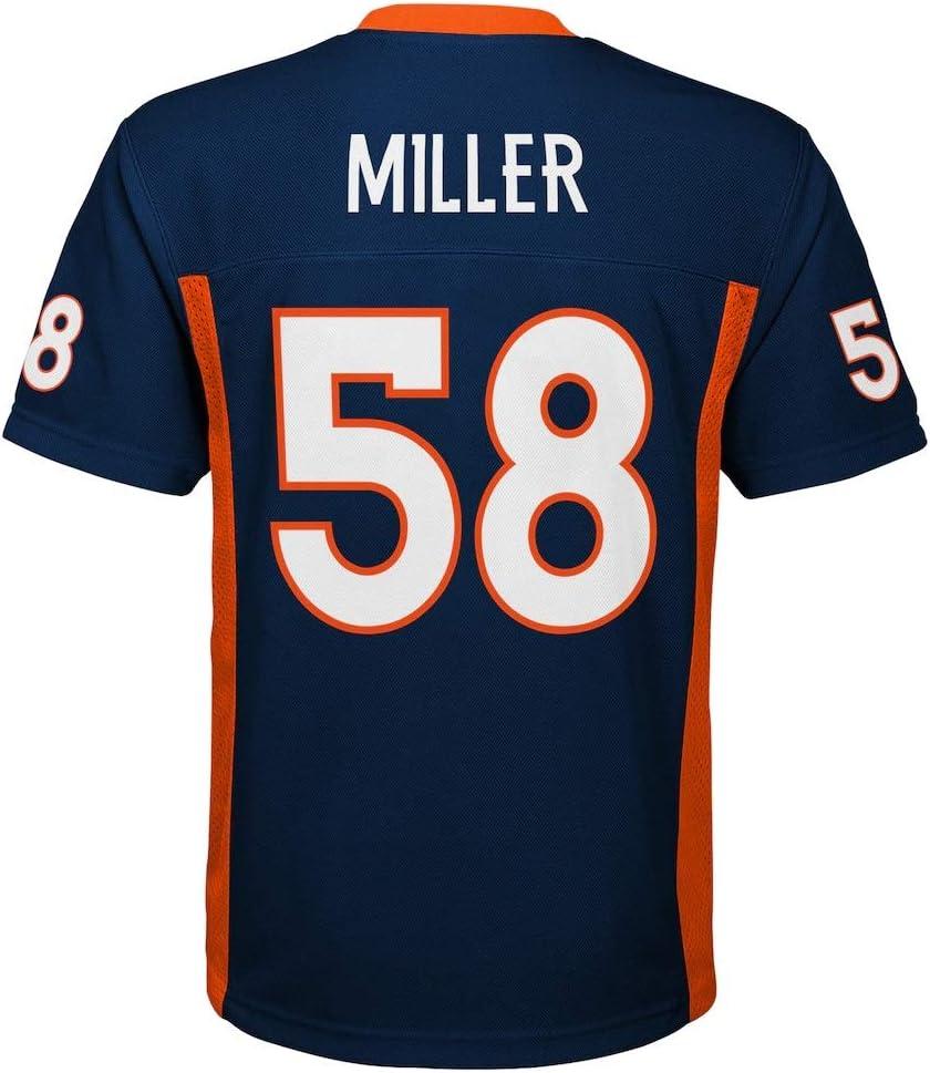Outerstuff Von Miller #58 Denver Broncos NFL Youth Mid-Tier Jersey Navy