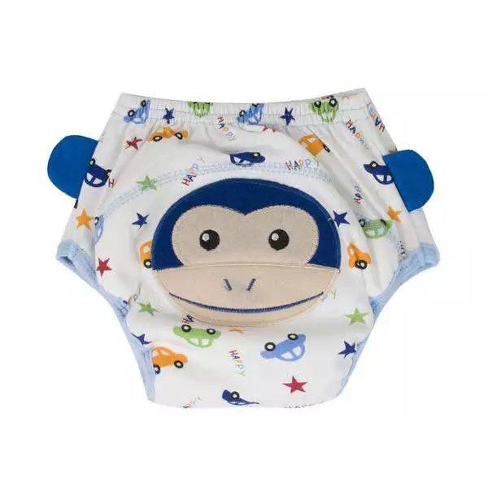 domybest bebé 4capas pantalones de entrenamiento para lavable reutilizable para bebé pañales bebés pañales ropa interior Blue Monkey Talla:80