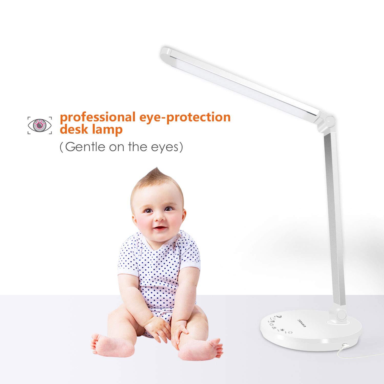 fe0a5bc0e1bd34 Lámpara LED Escritorio, EWANTIC L1- Lámparas de Mesa USB Regulable, Control  Táctil, 4 Modos de Color, Función de Memoria, Protege a ojos, ...
