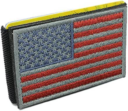 iCraft-Slim Front Pocket USA Flag Tactical Patch Wallet