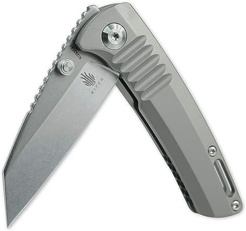 Kizer Shard 2.2 Inch Titanium Pocket Knife, Wharncliffe-Style S35VN Blade Folding Knife for Outdoor