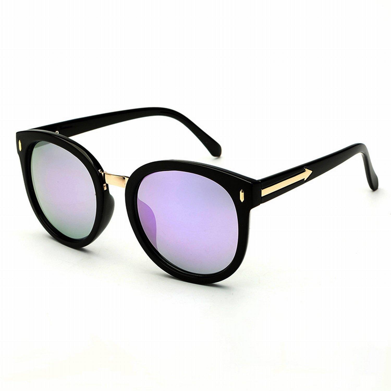 Polarisierte Sonnenbrille Frauen Farbe Linse Persönlichkeit Retro Dorsal Pfeil Sonnenbrille Schwarzer Rahmen Graue Linsen D46baGfOH