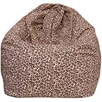 Qianle Fashion Washable Single Sofa Cartoon Print Bean Bag Chair (Leopard)