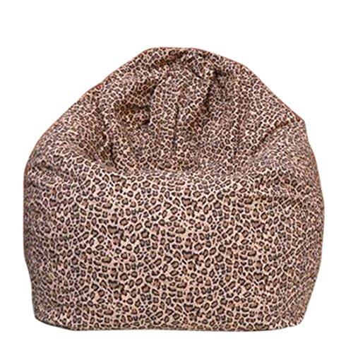 Qianle Fashion Washable Single Sofa Cartoon Print Bean Bag Chair (Leopard)