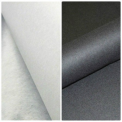 Interfacing - Iron On - Fusible - Heavy Weight - Black