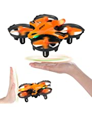 H803 Mini Drone RC Nano Quadcopter Best Drone for Kids & Beginners, Remote Control RC Quadcopter with Infrared Obstacle Avoid, Throw to Fly, Altitude Hold, LED Night Light /2 Batteries, Toys for Boys & Girls