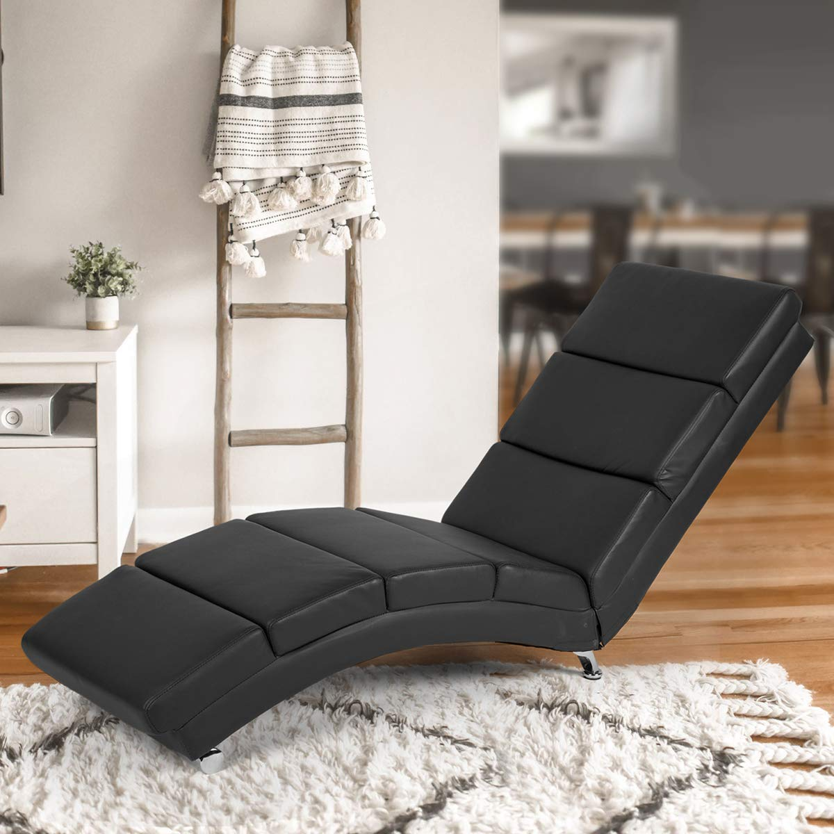 - AECOJOY Massage Chaise Lounge Couch Black Modern Indoor Chaise