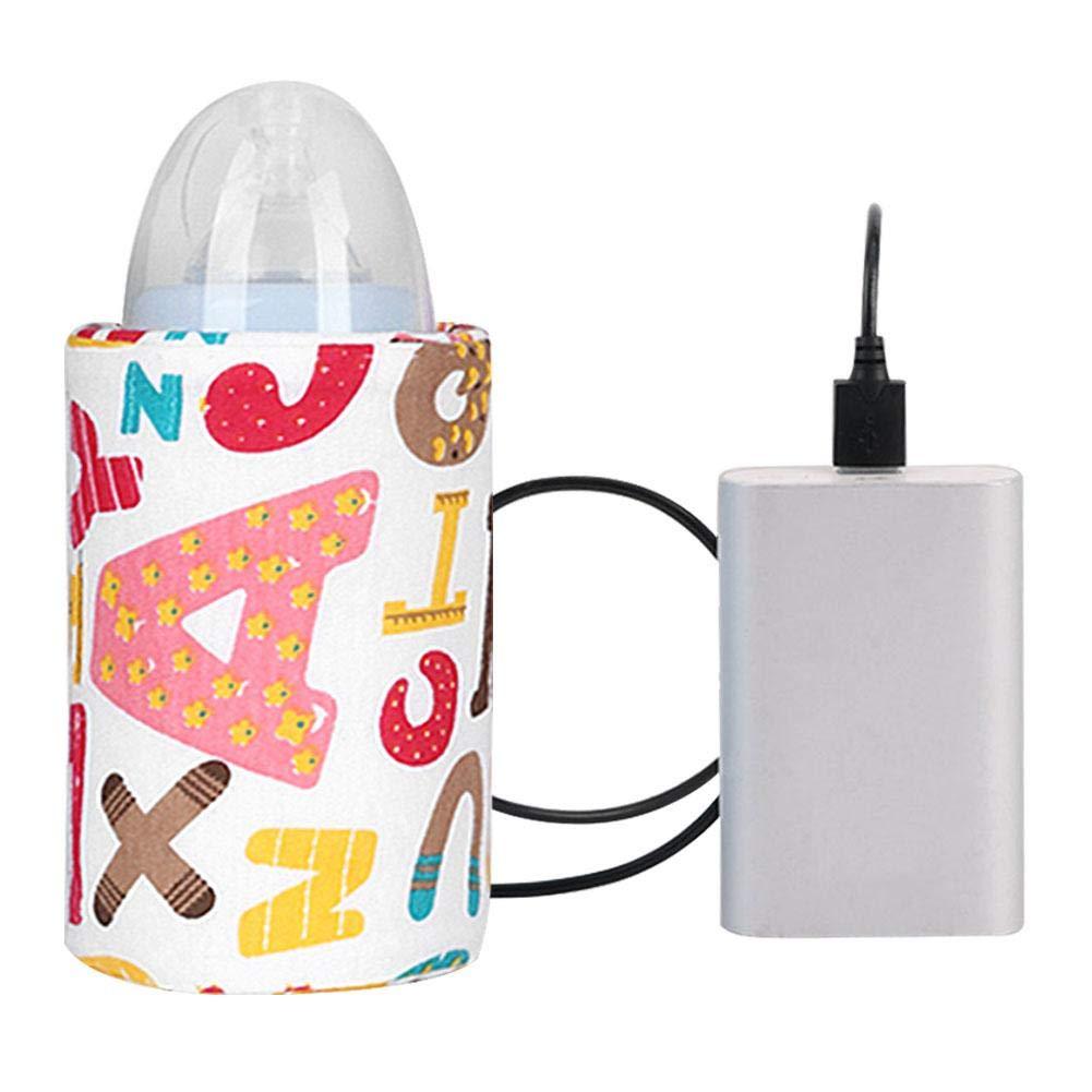 FancyU Insulated Baby Bottle Bag USB Portable Heating Warm Milk Warmer Set Milk Heater Bottle Portable Bottle