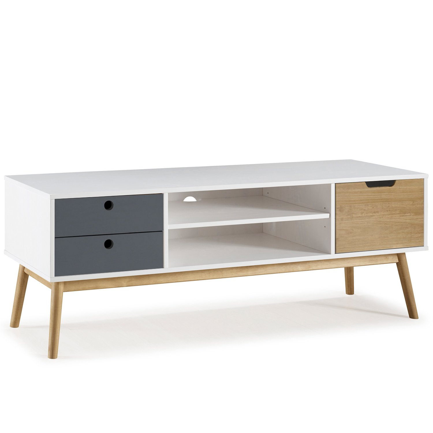 Mueble TV Leti Blanco, Pino Macizohttps://amzn.to/2BmW19j