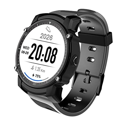 OOLIFENG Reloj inteligente GPS Rastreador de ejercicios deportivos Monitor de pulso cardiaco Reloj de pulsera bluetooth