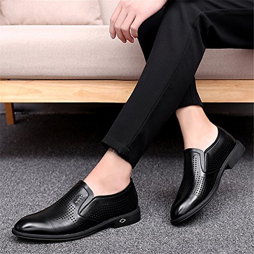 XUEXUE Wallets Men's Shoes Leather Spring Summer Fall Driving Shoes Comfort Loafers & Slip-Ons Walking Shoes Hollow-out Breathable Split Joint For Casual Office & Career (Color : B, Size : 40)