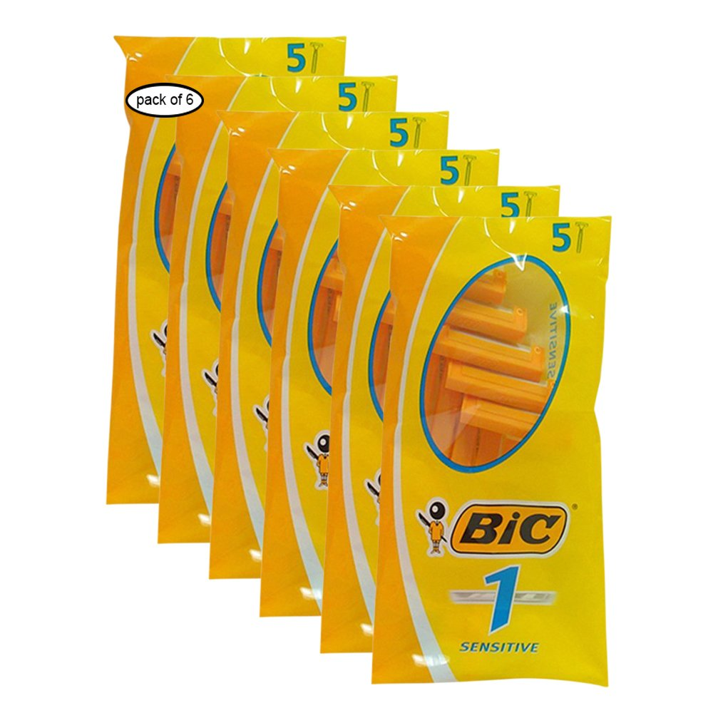 BIC Disposable Razor (5 Pack) (Pack of 6) 705010
