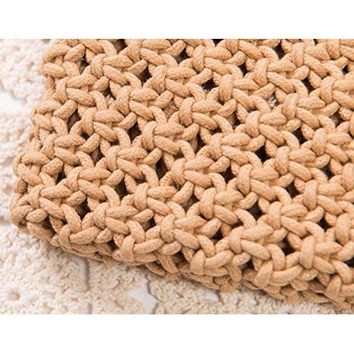 Paille Plage Fille Pochette Gland Tiss¨¦ De Abuyall Sac Pt4 Crochet D'¨¦t¨¦ Enveloppe Vintage aApx0x