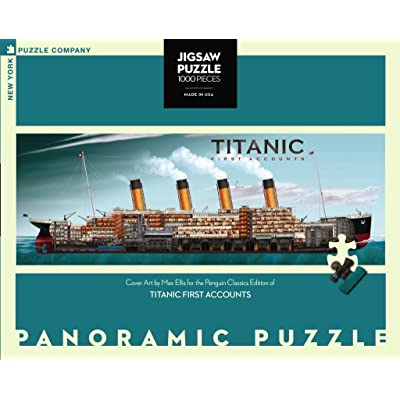 New York Puzzle Company - Penguin Random House Titanic First Accounts - 1000 Piece Jigsaw Puzzle: Toys & Games
