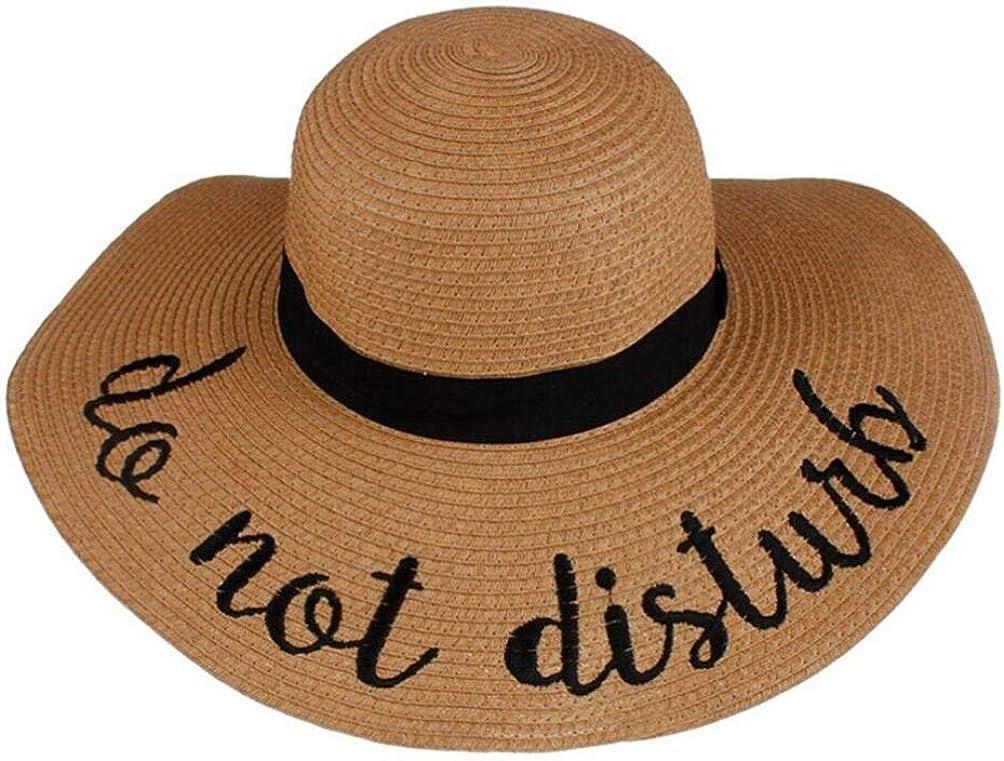 Women Ladies Summer Big Wide Brim Straw Hat Floppy Derby Beach Sun Cap Anti UV Panama Round Top Travel Visors