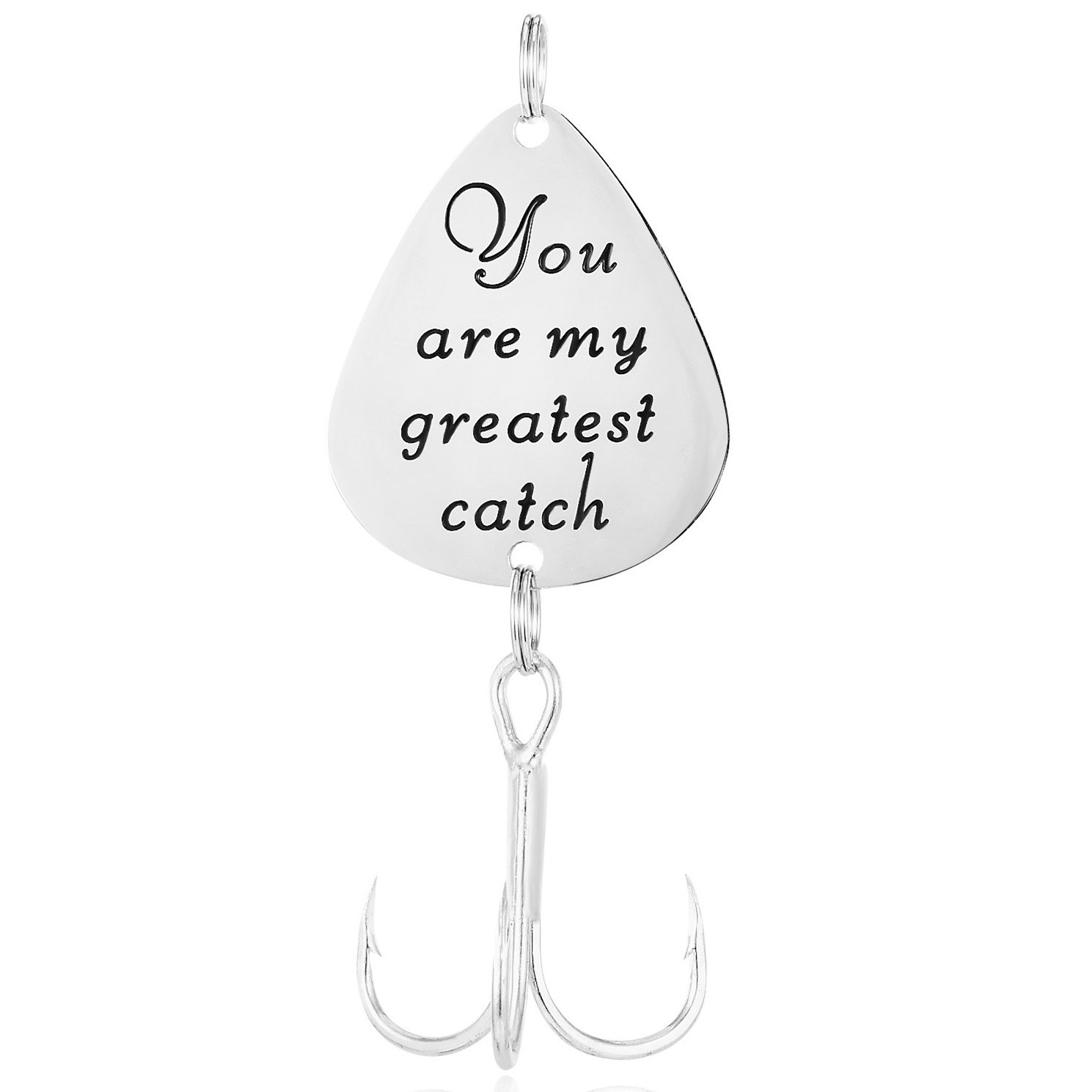 ELOI You are my greatest catch Fishing Lure Boy Friend Fisherman GIft Valentines's Day Christmas Gift for Husband