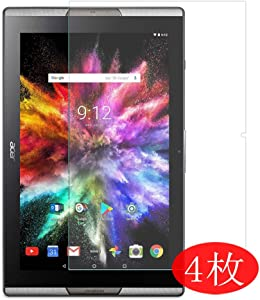 "【4 Pack】 Synvy Screen Protector for ACER ICONIA TAB 10 A3-A50 10"" TAB10 TPU Flexible HD Clear Case-Friendly Film Protective Protectors [Not Tempered Glass] New Version"