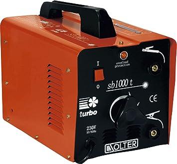 Solter 01053 Transformador de soldadura SB 1000T 5 W, 240 V: Amazon.es: Bricolaje y herramientas
