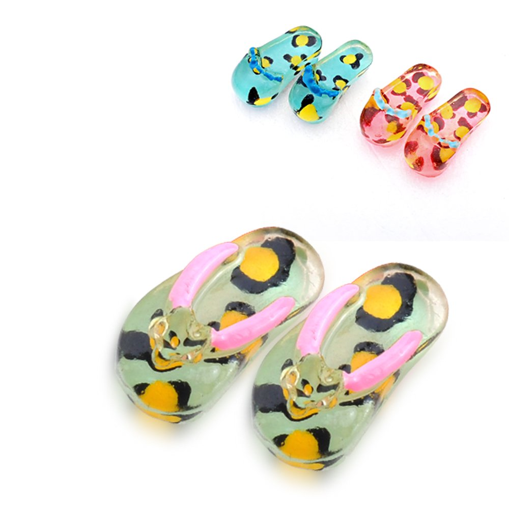 Ashley Jeweller Summer Fun Flip Flops Stud Earrings Set 36 Pairs for Women Girl Kid Party
