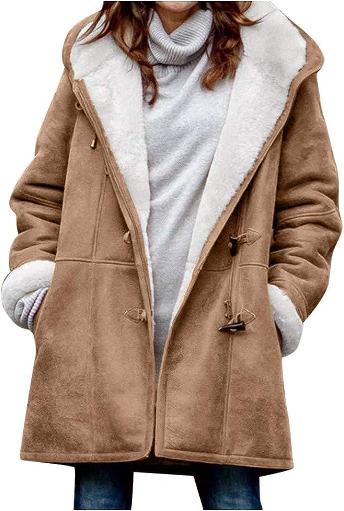 KAKAT Giacca Donna Inverno Tinta Unita Monopetto Tasca Cappotto A Fare Shopping Cappotti Caldo E Confortevole Abbigliamento Casuale Regalo di Natale Semplice E Elegante Cappotto