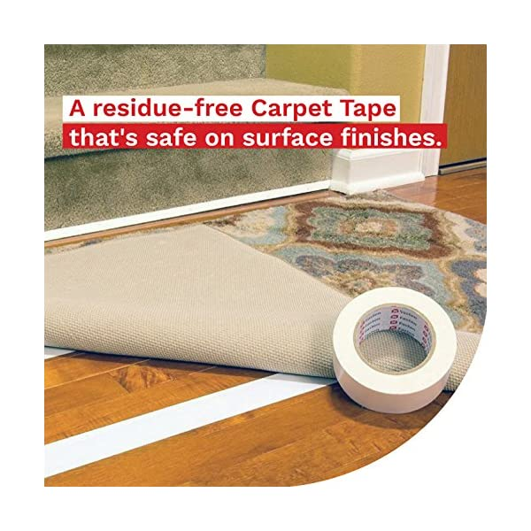 XFasten-Double-Sided-Carpet-Tape-for-Area-Rugs-Residue-Free-2-Inch-x-30-Yards-Wood-Safe-2-Faced-Rug-Tape-for-Carpet-to-Floor-and-Rug-to-Carpet-Applications